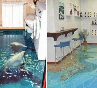 3D vloeren toveren je badkamer om in een levendige oceaan - FHM