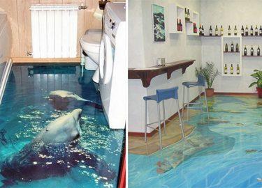3d vloeren toveren je badkamer om in een levendige oceaan