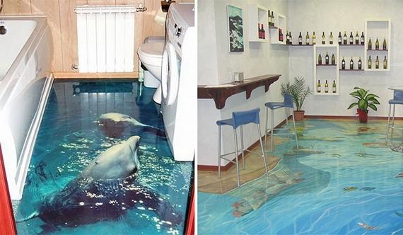 Tekening Badkamer Maken : D vloeren toveren je badkamer om in een levendige oceaan fhm