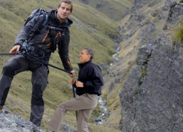 Outside Magazine Dec 2015 Bear Grylls with Obama Issue