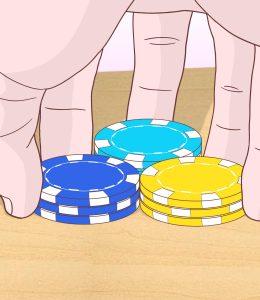 shuffle poker chips