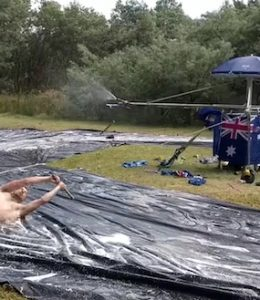 Australia Day slip 'n slide
