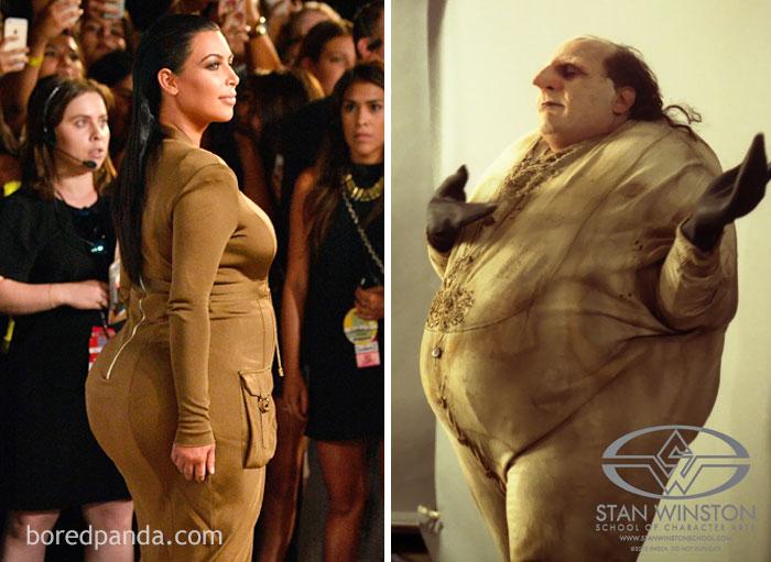 Kim Kardashian of Danny Devito als Pinguin
