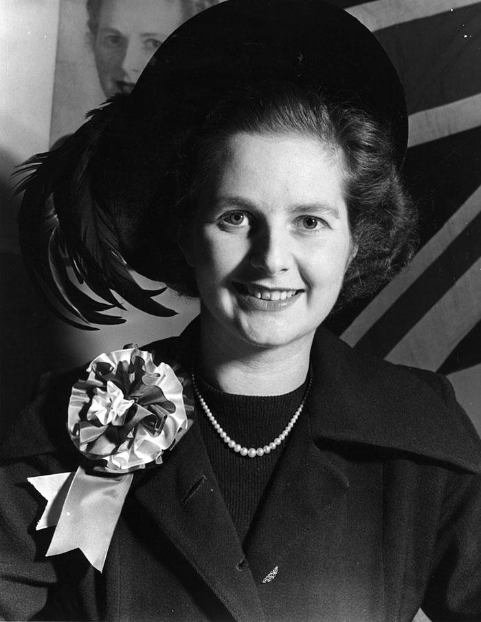 Margaret Thatcher, aka 'The Iron Lady'. Voorheen premier van Engeland
