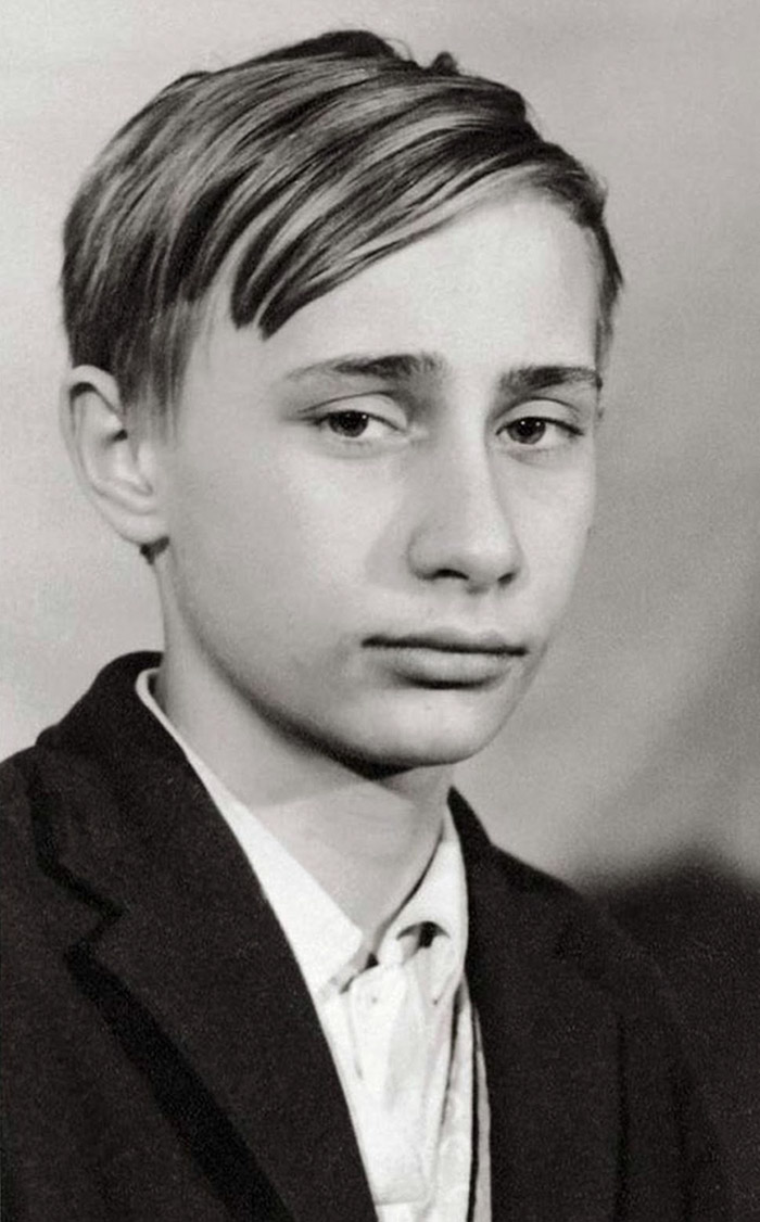Vladimir Putin als jong mannetje in 1966
