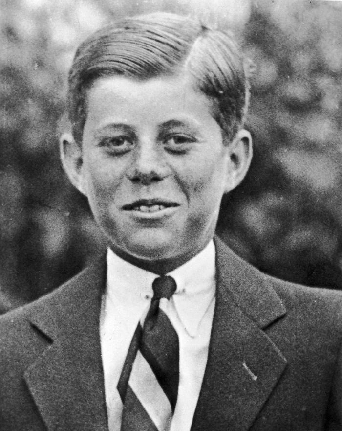 John F. Kennedy op 10-jarige leeftijd in 1927