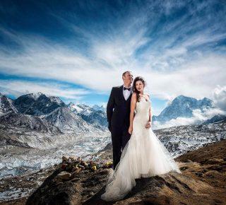 FHM-Trouwfoto Mount Everest