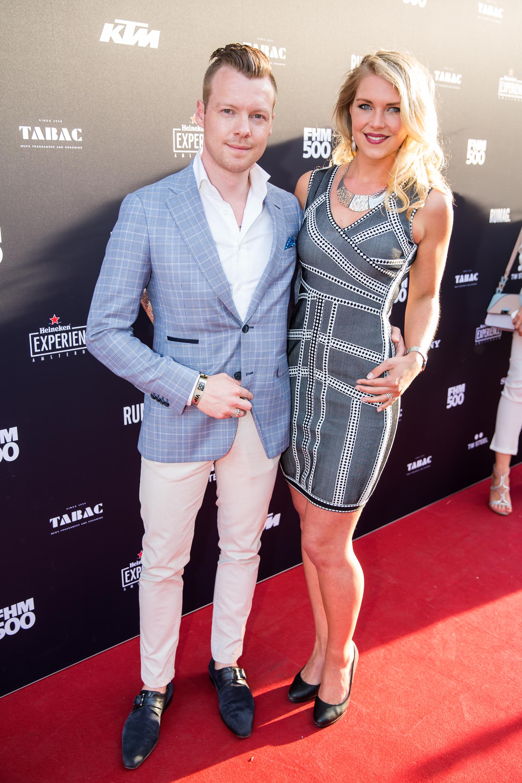 Charina Bartels met haar vriend