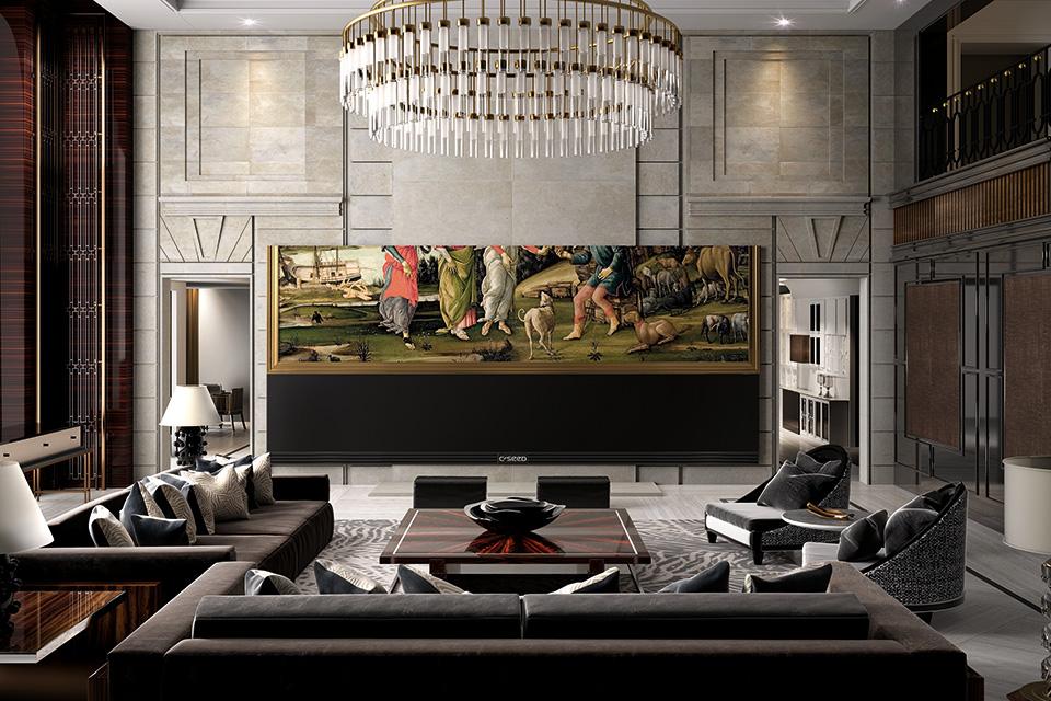 Dit is de grootste 4k widescreen tv in de wereld en kost fhm - Meubilair tv thuis van de wereld ...