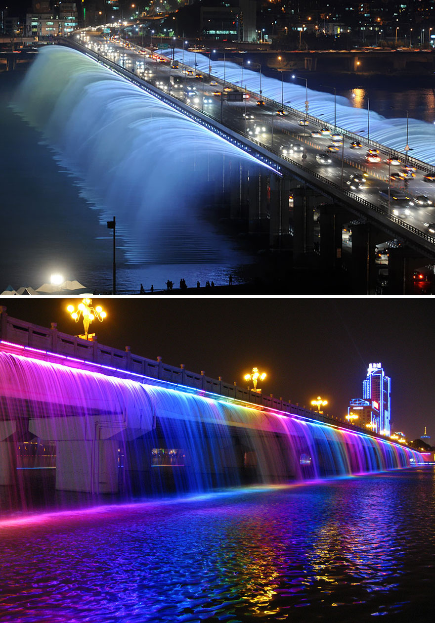 Banpo Bridge in Seoul in Zuid-Korea