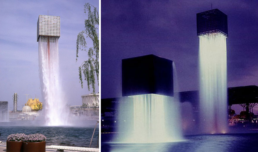 'Nine Floating Fountains in Osaka, Japan
