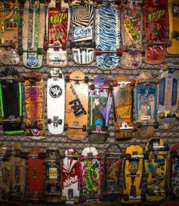 Skateboard verzamelaar