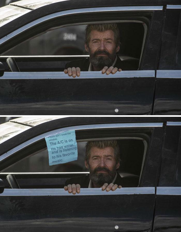 Hugh Jackman in een auto - by Navinox97