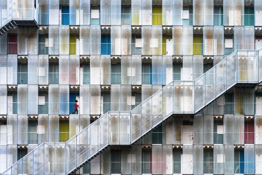 Colorful Apartment, Kitagata, Gifu, Japan.