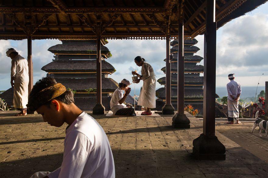 Blessings At Besakih, Bali.