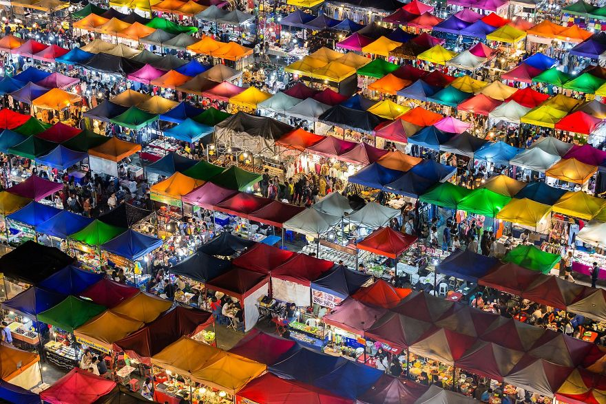 Colorful Market, Bangkok, Thailand.
