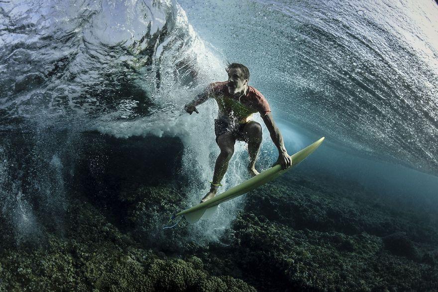 Under The Wave, Tavarua, Fiji.