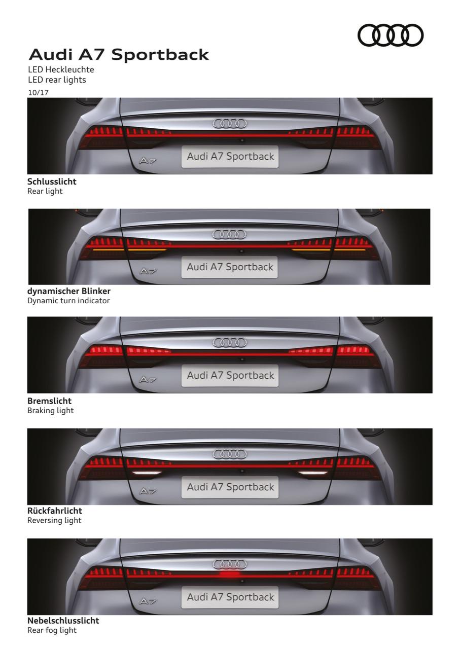 LED rear lights