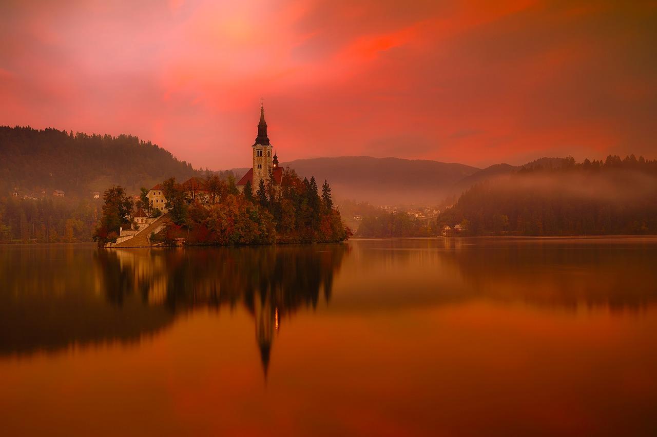 Lake Bled, Slovenië