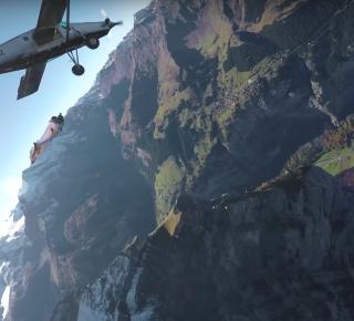wingsuitvliegers vliegtuig