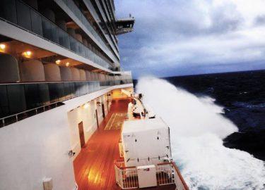 Cruiseschip storm