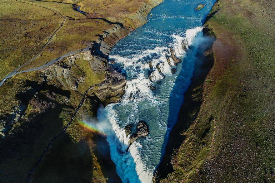 Gullfoss waterval, IJsland. Foto: Vaidas Gegužis