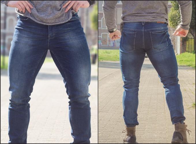 jeans gespierde benen
