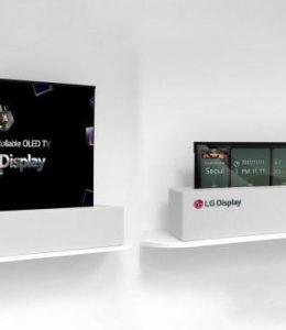 LG oprolbare tv