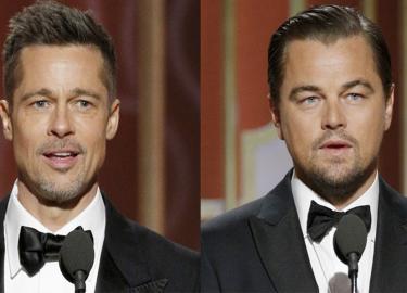 Brad Pitt en Leonardo DiCaprio