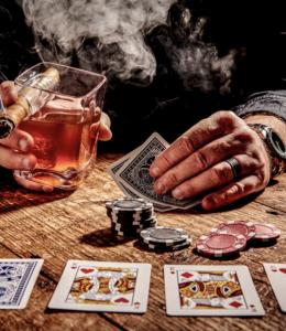 whisky/ sigaar glas