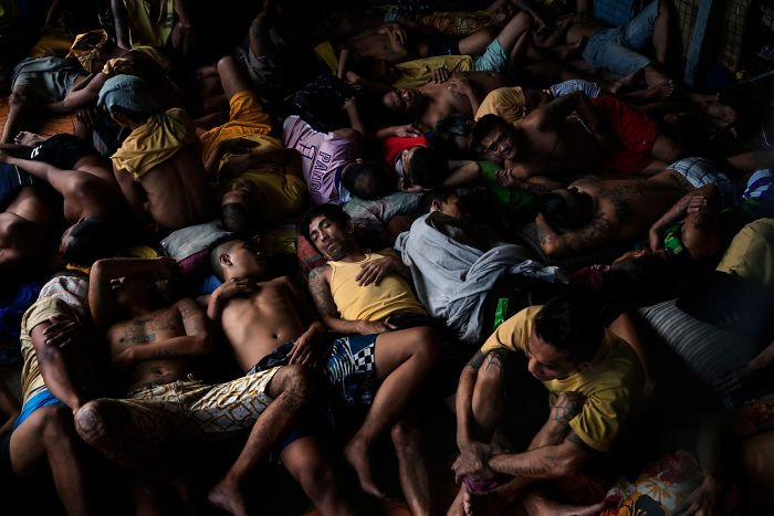 Quezon City Jail, Quezon City, Philippines. Foto: Adam Dean, National Geographic , dailymail
