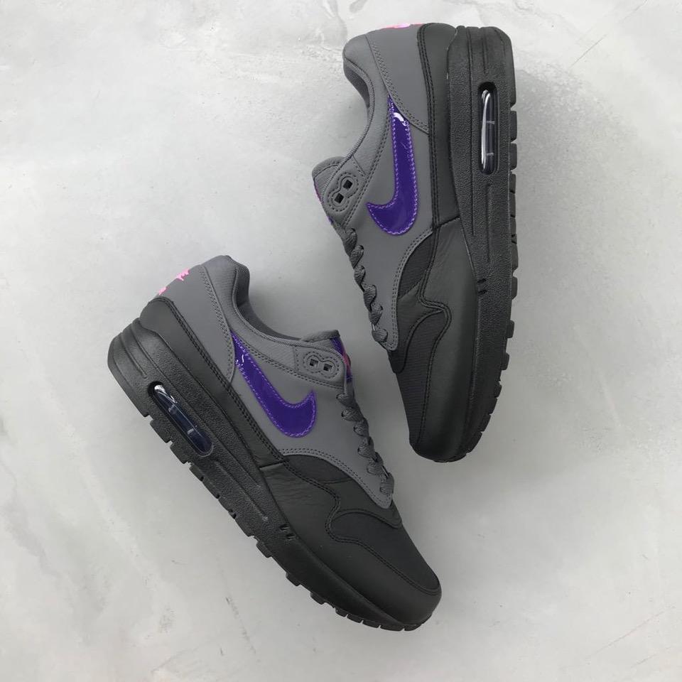 Nike air max 1 Dark Grey Fierce Purple Black