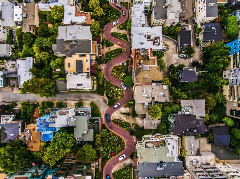 Urban: 'Lombard Street - San Francisco' By Bryan Dumas