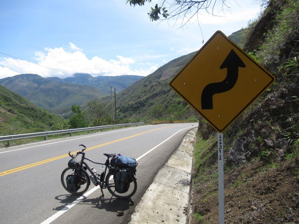 In Colombia, op weg naar Medellin.