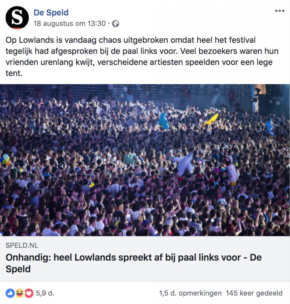 De Speld Facebook