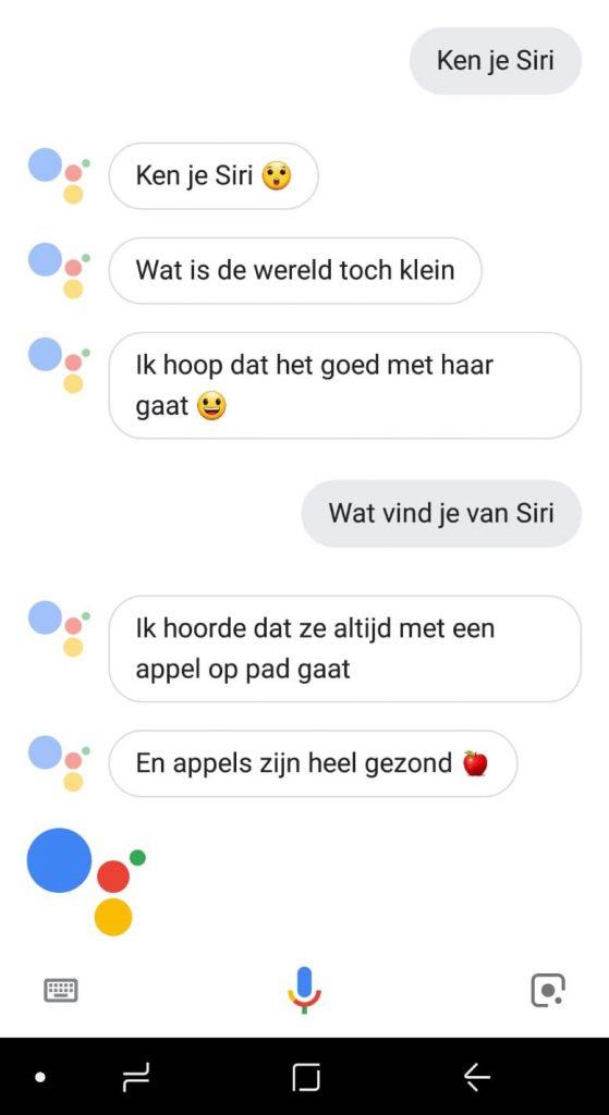 Google Assistent Siri