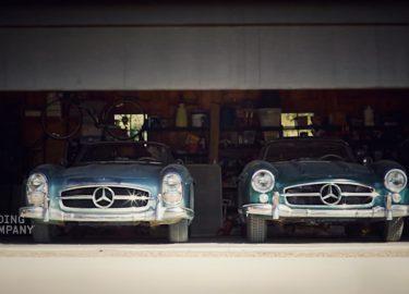 schuurvondst Mercedes mercedessen 300 SL Gullwing Roadster