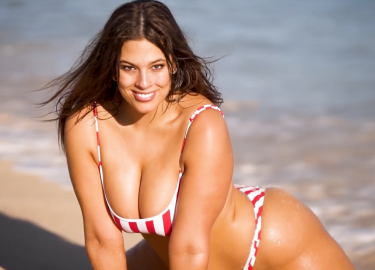 Plus-size Model Ashley Graham Bikini Shoot