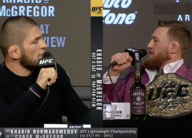 McGregor vs Khabib Persconferentie