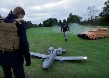 A-10 Warthog vs Tank battle