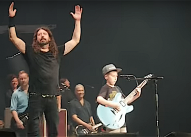 Dave Grohl 10 jarige fan
