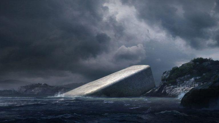 onderwater restaurant Noorwegen