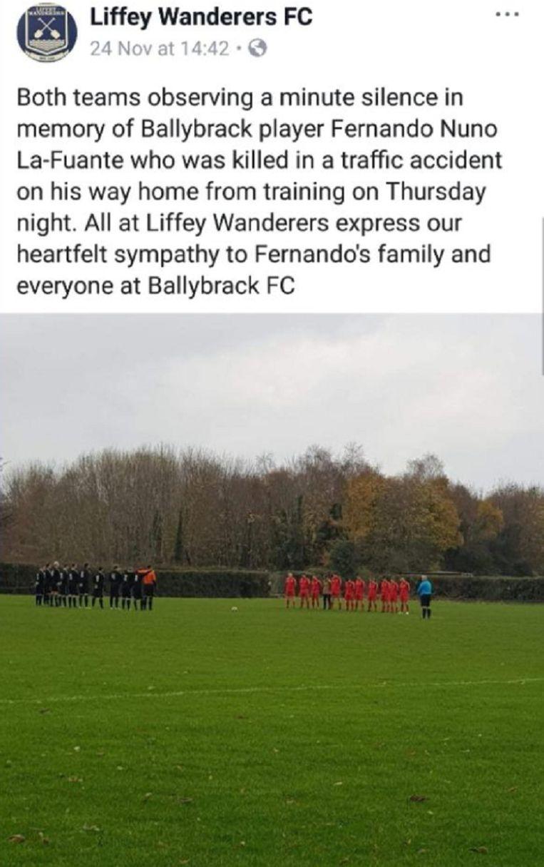 voetbalclub Ierland dood