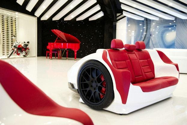 Lamborghini meubels bureau bankje