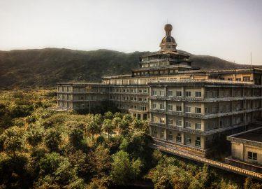 Verlaten hotel Japan