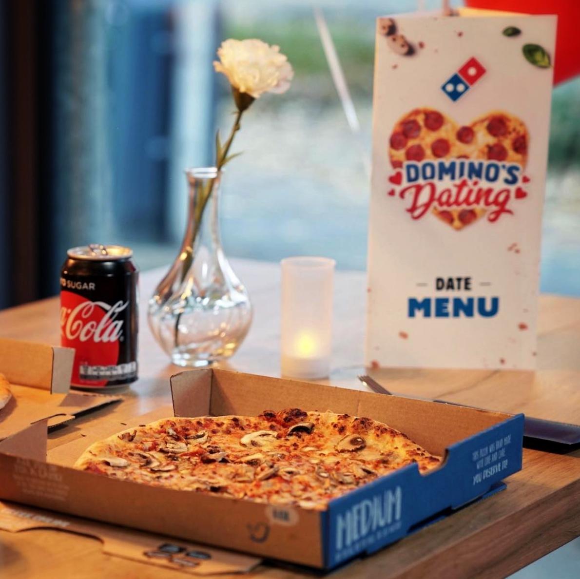 Domino's dating app pizza