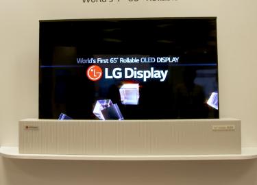 LG oprolbare televisie