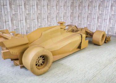 Formule 1-wagen karton