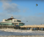 Blankenberge pier kitesurfer