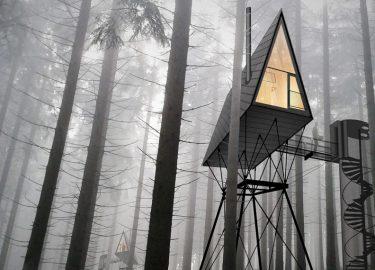 Noorwegen huis bomen